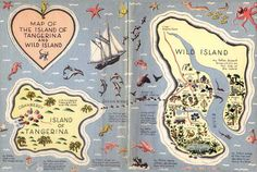 Map of the Island of Tangerina and Wild Island, from My Father's Dragon. Written by Ruth Stiles Gannett, Illustrated by Ruth Chrisman Gannett My Fathers Dragon, Baby Dragon, Chapter Books, Cartography, Read Aloud, Childrens Books, Fiction, Activities, Illustration