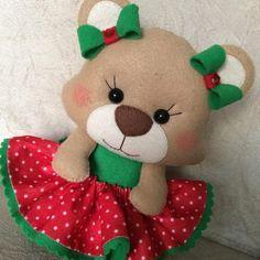 """7 curtidas, 1 comentários - Artes by Lis (@artesbylis) no Instagram: """" de saia rodada . . #artesbylis #artesanato #feltro #felt #feitoamao #feitoamaocomamor…"""" Hobbies For Kids, Great Hobbies, Christmas Decorations, Christmas Ornaments, Holiday Decor, Bear Template, Hobby World, Hobby Shop, Reno"""