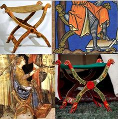 """Reconstruction of 14th century folding chair Research Researchgroup """"Хранители"""""""