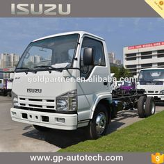 100P ELF Isuzu Cargo Truck Chassis with single-row cabin and option double-row cabin