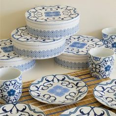 Now Designs Plate, Madeira Indigo, Set of 4 by Now Designs. $27.45. Features a rich design inspired by European tiles. Dishwasher and microwave safe. Each plate has a 7-1/2 inch diameter. Set of four coordinating plates. Made of porcelain, set comes packaged in a coordinating gift box. For over 45-year now designs has created fashionable, fun, and functional kitchen textiles, table linens, gifts and decorative accessories for the home. Whether it's kitchen basics, f...