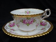 Copeland 19th C. Cup and Saucer Retailed by Davis, Collamore  Co.
