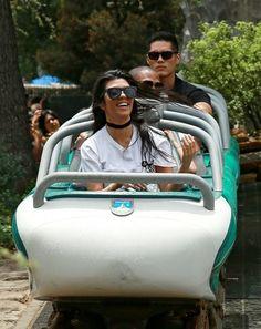 Kourtney Kardashian Photos - Kourtney Kardashian Having A Great Time At Disneyland - Zimbio