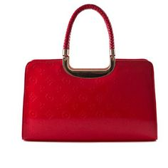Hot Red Satchel Fashion Bag