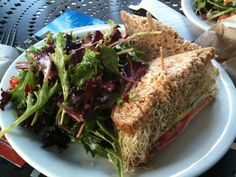 sprouts avocado sandwich @ urth caffe, downtown la