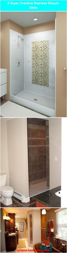 bathroom remodels with doorless shower Walk In Shower Designs, Shower Remodel, Remodels, Bathtub, Bathroom Showers, Design Ideas, Creative, Modern, Stalls