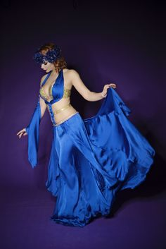 "Blue Fairy - premium extra ""Romantica Eclectica"" collection  #fashion #art #fashiondesigner #bellydance #stage #costume #costumedesigner #highfashion #personaldesigner"