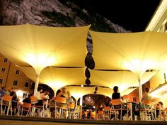 Sun Umbrella With LED Lights - Tulip By MDT-tex