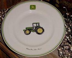 Set of 4 John Deere Dinner Plates Gibson 11\  Nothing Runs Like a Deere Tractor #Gibson   I love my tractor- John Deere   Pinterest   Tractor and Dinners & Set of 4 John Deere Dinner Plates Gibson 11\