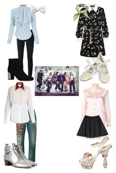 """""""Blood, Sweat, and Tears"""" by mikupayneluvs1d ❤ liked on Polyvore featuring Gucci, Miu Miu, Yves Saint Laurent, Balmain, Dolce&Gabbana and Louise & Zaid"""