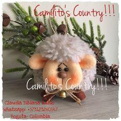 Ovejita especial para colgar en el arbol de navidad Xmas, Christmas Ornaments, Holiday Decor, Tejido, Art, Felting, Weihnachten, Christmas Jewelry, Navidad