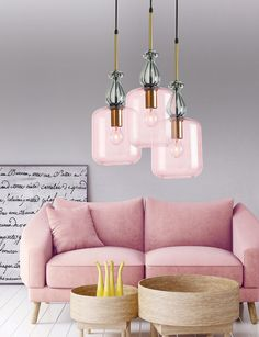 pink light with glass , new collection www. Love Seat, Ceiling Lights, Pink Light, Lighting, Glass, Painting, Furniture, Collection, Design