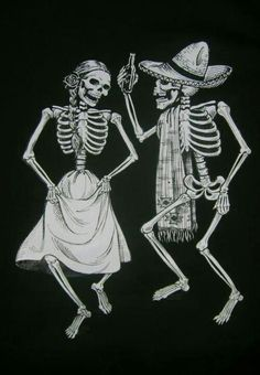 Day of the Dead dancers.
