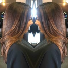 Caramel Balayage- Hair by Linda Bang