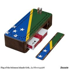 Flag of the Solomon Islands Cribbage Board