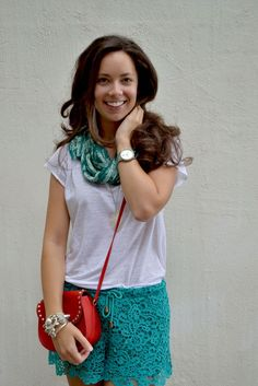 How to mix lace shorts in a spring outfit : MartaBarcelonaStyle's Blog