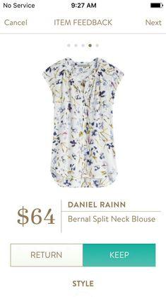 Stitch Fix Daniel Rainn Bernal Split Neck Blouse