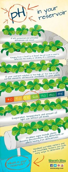 pH in your reservoir, hydroponics #hydroponicsinfographic