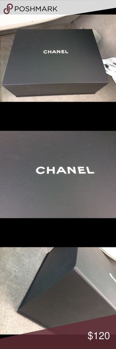 Authentic Chanel Jumbo Box Authentic Chanel jumbo magnetic box with Camellia, tissue paper, and ribbon. Recently received from Chanel boutique. Excellent condition. Tissue paper does not have Chanel imprint. That is just how they had it at the store. Size: 15x12x6.5 inches CHANEL Accessories