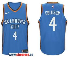 84ccc5b4d01 Men s Nike NBA Oklahoma City Thunder  4 Nick Collison Jersey 2017-18 New  Season