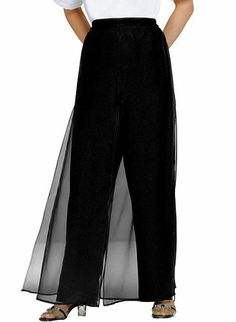 Layered Palazzo Pants from www.amerimark.com.
