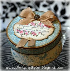 Creations by Mercedes: Apothecary Art Keepsake Box