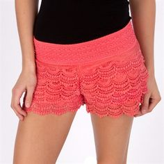 Jolt Juniors Tiered Crochet Short  | More lace here: http://mylusciouslife.com/pictures-of-lace/