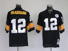 aa2ead2d3f2 ... Mitchell Ness Steelers 12 Terry Bradshaw Black Stitched Throwback NFL  Jersey 19.50 Pittsburgh ...