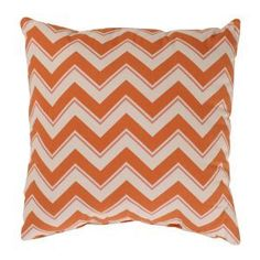 Cool pillows to liven up your living room!   apartment decor - CC Home Furnishings Bold Orange Zig Zag Decorative Throw Pillow.jpg