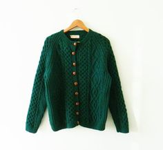 Deep Forest Green Vintage Fisherman Sweater / by thehappyforest
