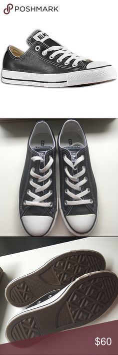 Black Leather Converse Discounted Bundles ▪️Please use the offer feature  ▪️Ships within 24 hours ✈️ ▪️No tradesNo Paypal ▪️ Love the item but not the price?  Make an offer!  ▪️Questions?  Don't be shy!  Feel free to ask  ▪️Condition - Like new ▪Description - Only worn for a couple of hours before I realized they are not my size.  Comes with box. Converse Shoes Sneakers
