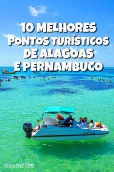 Confira os 10 melhores pontos turísticos de Alagoas e Pernambuco, que incluem a área de proteção ambiental da Costa dos Corais, Porto de Galinhas, Praia dos Carneiros e Maragogi #Viagem #Praia #Nordeste