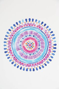 Watercolor + mandala designs = LOVE! These are great watercolor inspirations.