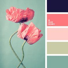 Love this color scheme. Navy in a main room (like bedroom or living room), dark pink/light pink in a little girl's room or bathroom, light green or… …
