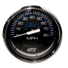 "Faria Chesapeake Black SS 4"" Speedometer - 80MPH (GPS) - https://www.boatpartsforless.com/shop/faria-chesapeake-black-ss-4-speedometer-80mph-gps/"