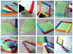 Ιδέες για δασκάλους:Χαρταετός ρόμβος από γλωσσοπίεστρα! Summer Crafts, Diy And Crafts, Crafts For Kids, Paper Crafts, Preschool Classroom, Classroom Activities, Activities For Kids, Kites Craft, Carnival Crafts