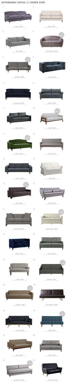 88 Affordable and Budget Friendly Sofas Under $1000 - Emily Henderson