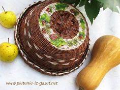 Как красить сплетённые корзинки / How to paint basket