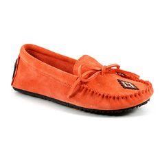 Canoe Suede Moccasin (Salmon) – Rosey's Trading Post