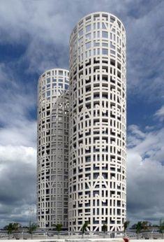 The Spanish architectural firm of Rafael de La-Hoz in #Spain #España - designed the Torres de Hercules.