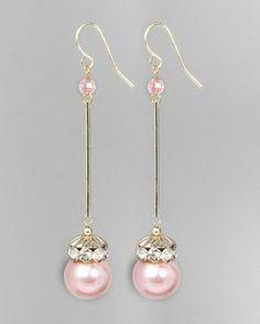 Pearl Wand Earrings - JewelMint