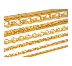 Love these hand made 22k golden chains by Reinstein/Ross