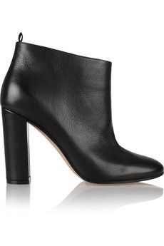 Gianvito Rossi Textured-leather ankle boots | NET-A-PORTER