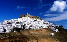 Fantastic white village on the hill