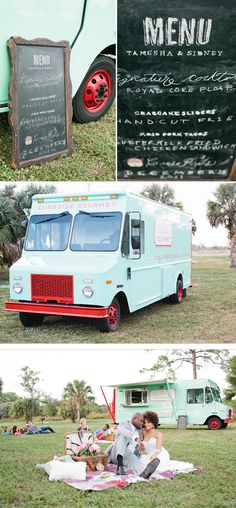 food truck for your cocktail hour, reception or a coffee/dessert truck at the end of your wedding! :)