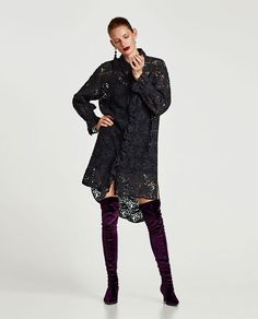 ZARA - WOMAN - LACE SHIRT-STYLE TUNIC