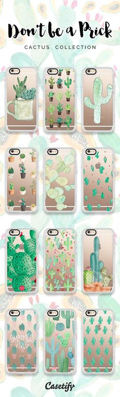 12 most wanted cactus iPhone 6 protective phone cases | Click through to see more iPhone phone case designs >>> www.casetify.com/... #gardenart | Casetify