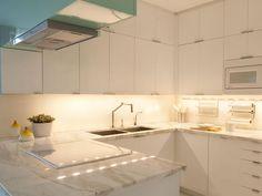 Under-cabinet lighting.