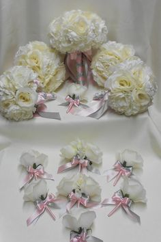 Hey, I found this really awesome Etsy listing at https://www.etsy.com/listing/152520433/wedding-bridal-bouquets-your-colors-18