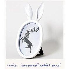 Cadre photo Carousel rabbit ears par Imm Living - Bird on the wire